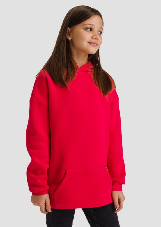 Crimson kids footer hoodie