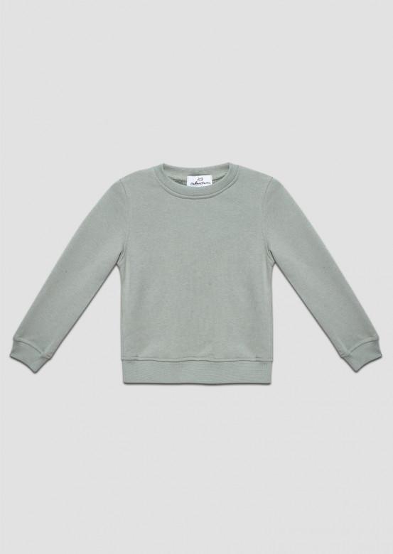Grey-green kids three-thread sweatshirt
