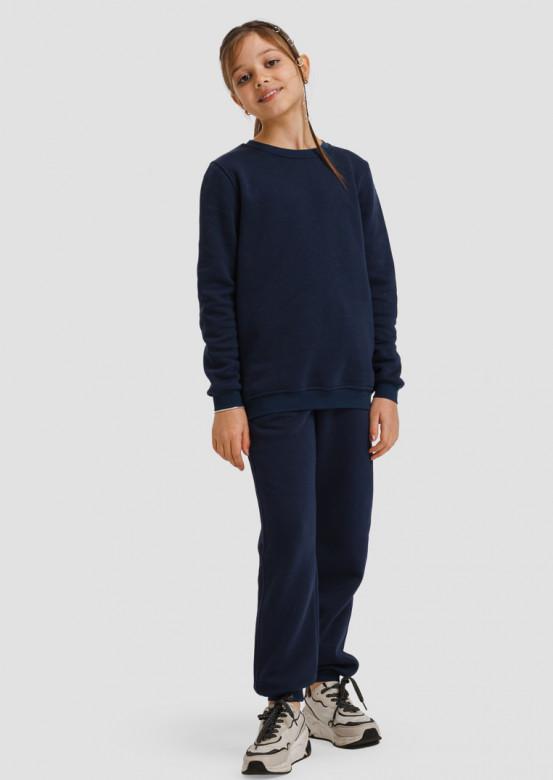 Dark blue kids footer sweatshirt