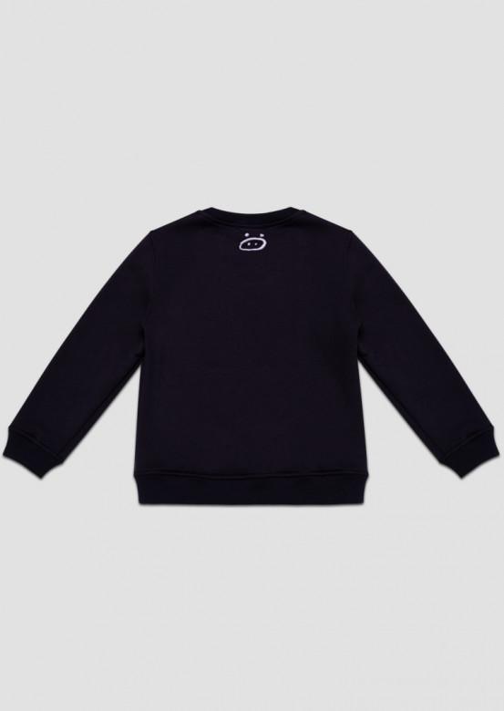 """Dark blue footer sweatshirt """"Почему? По качану!"""""""