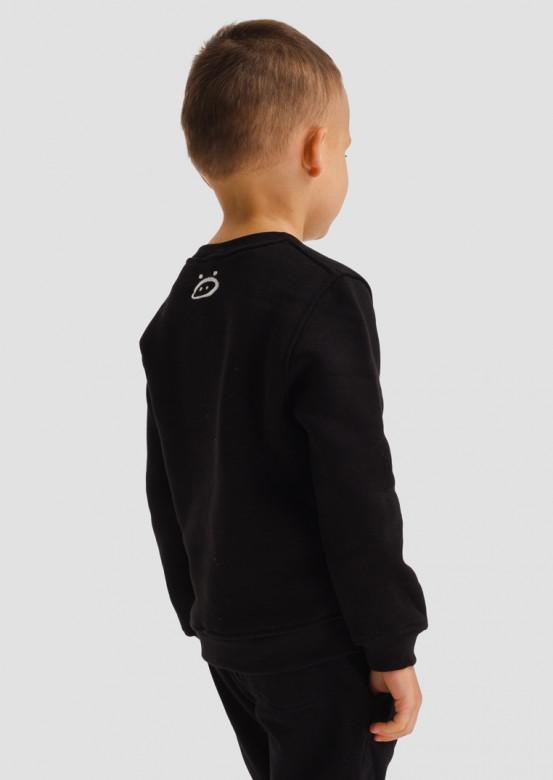"Black kids footer sweatshirt ""Всмысле?"""