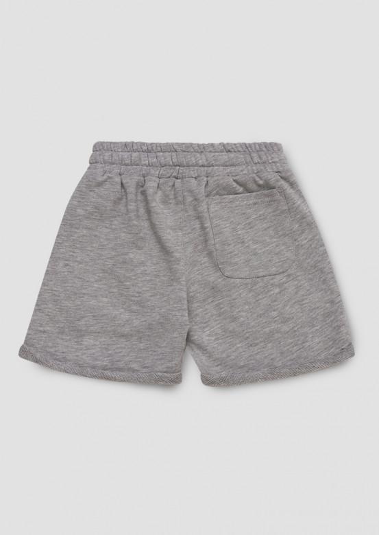 Light grey melange kids shorts