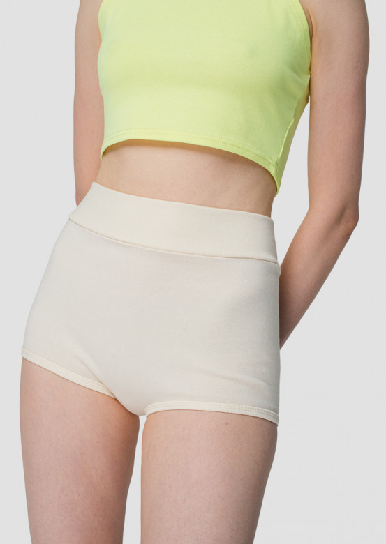 Milky high-waisted knickers shorts