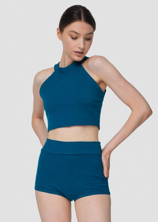 Aquamarine high-waisted knickers shorts