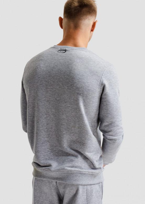 Light grey melange men three-thread sweatshirt