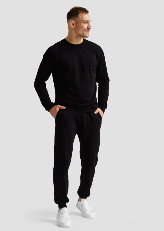 Black men footer sweatshirt