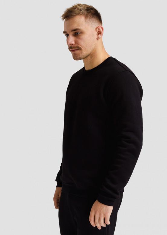 Black men three-thread sweatshirt