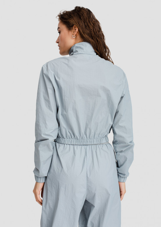 Blue raincoat fabric sport jacket