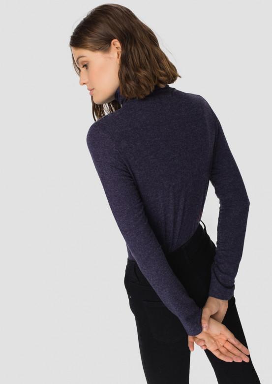 Dark blue knitted turtleneck