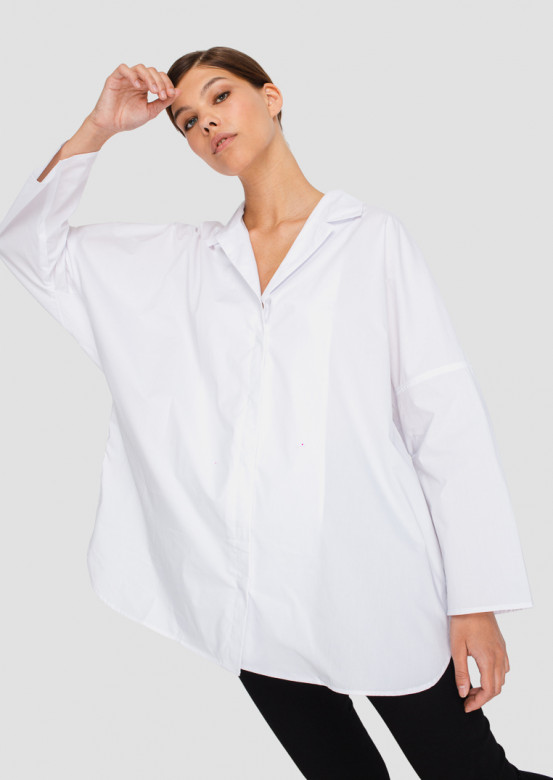 White one size cotton shirt