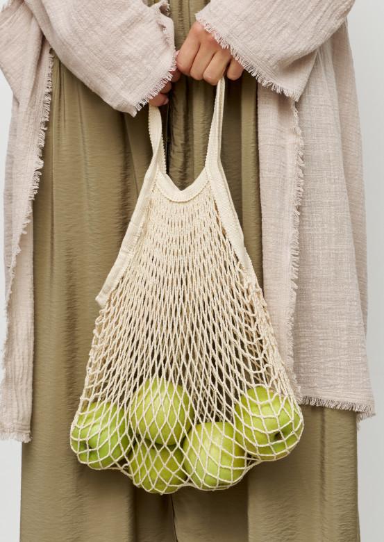 Beige string bag