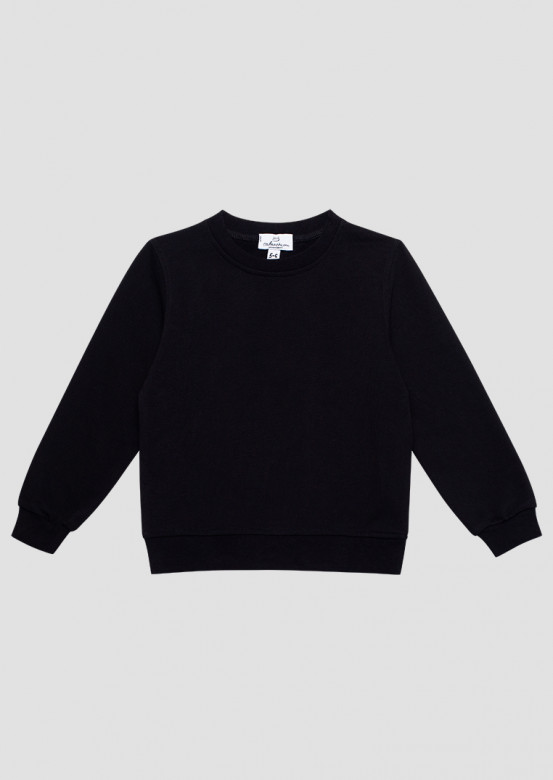 Black kids three-thread sweatshirt