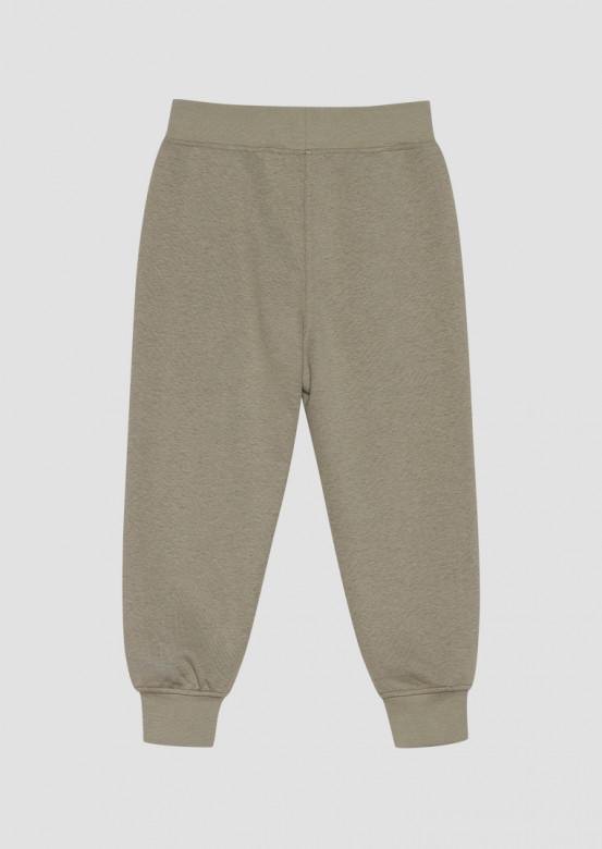 Light khaki kids three-thread trousers