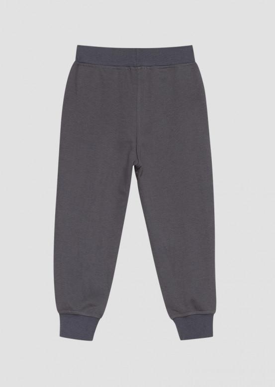 Grey kids three-thread trousers