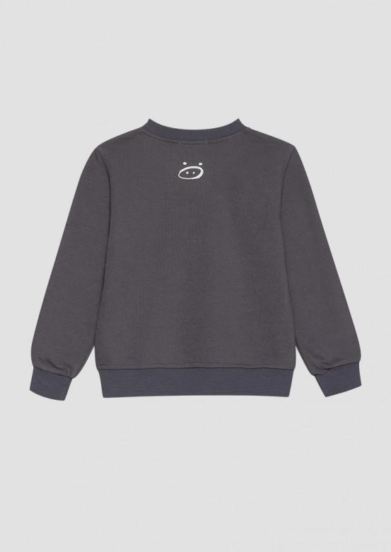 Grey kids three-thread sweatshirt