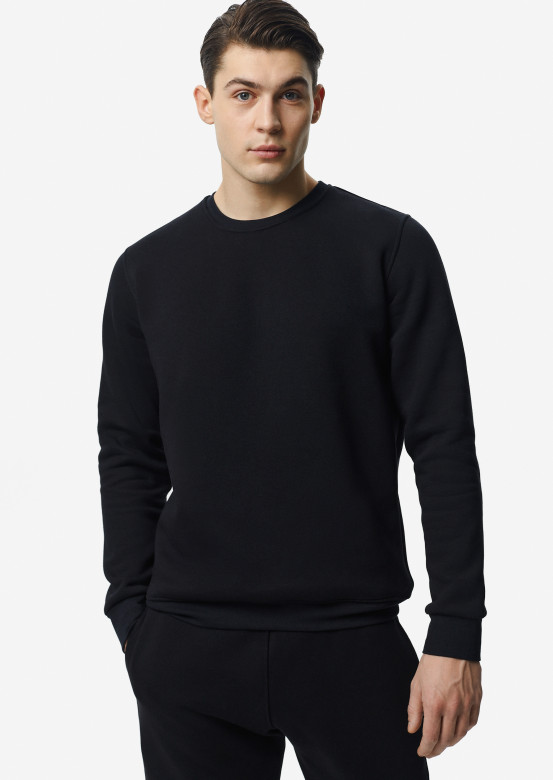 Dark blue men footer sweatshirt