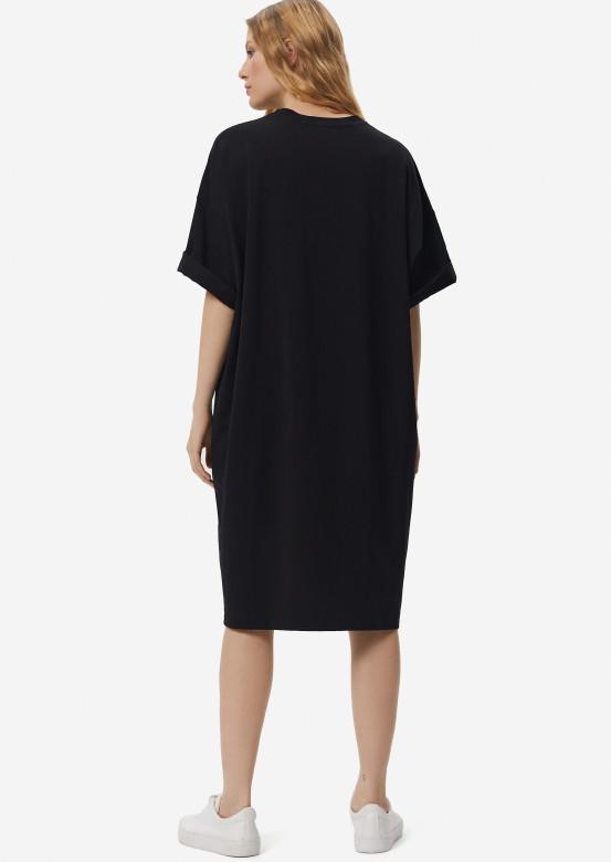 Black mega oversize 110 cm T-shirt dress