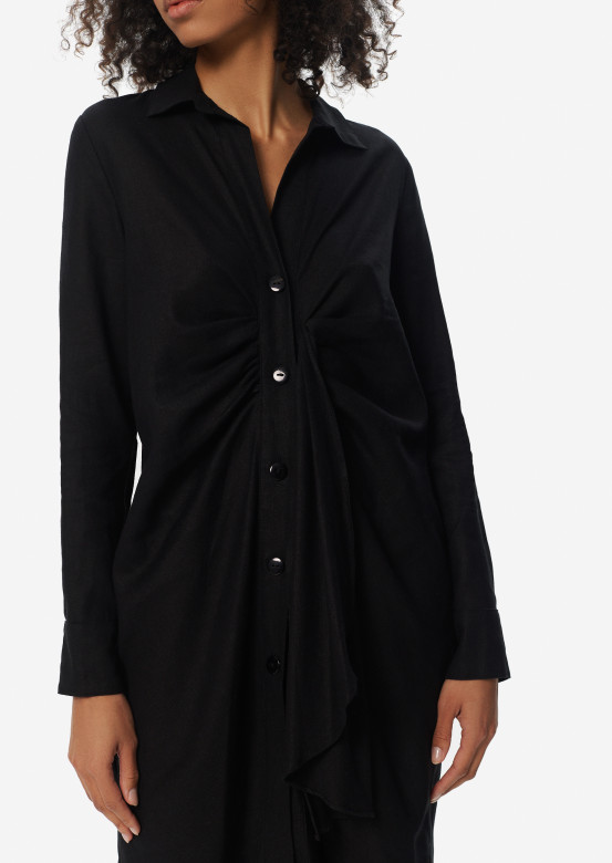 Black dress-shirt with knot