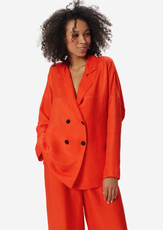 Linen jacket orange colour