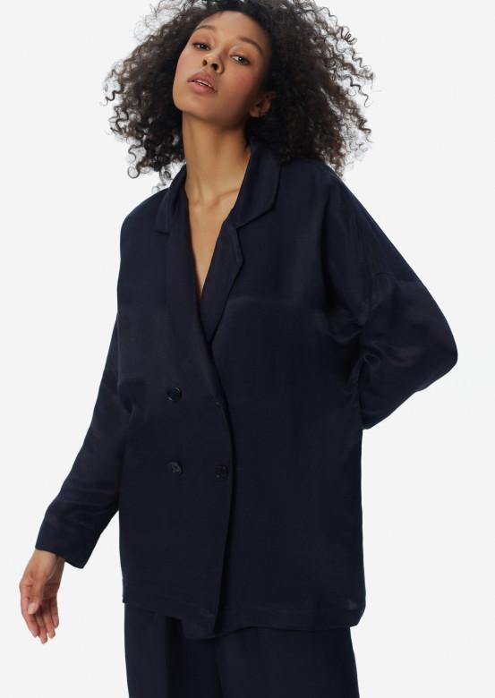 Linen jacket dark blue colour