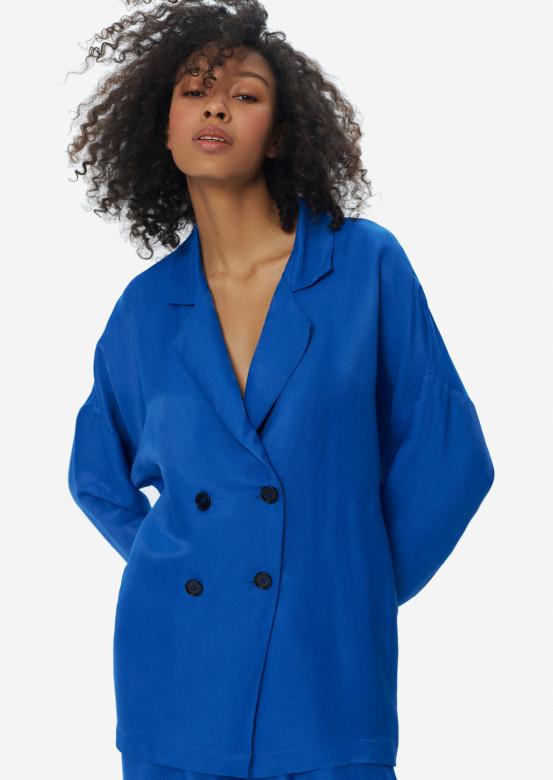 Linen jacket electric colour