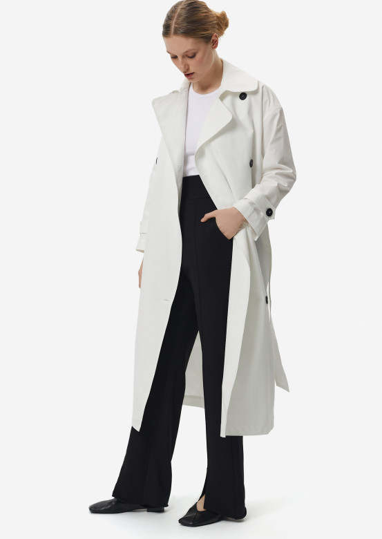 White colour trench coat