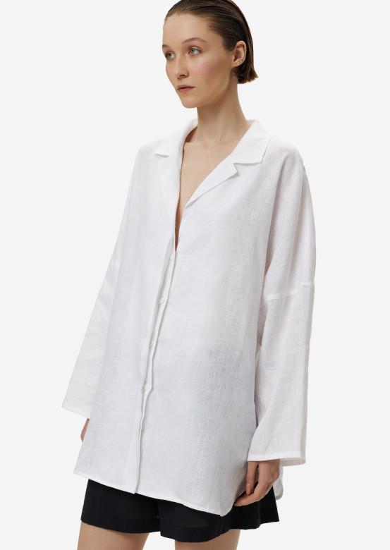 White women linen one size shirt