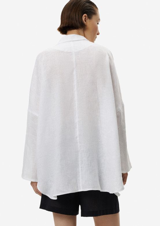 White women linen one size shirt