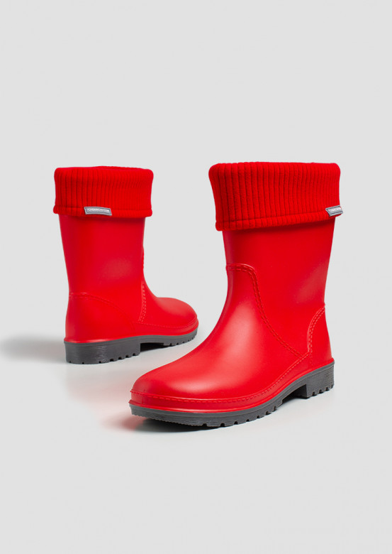 Women red colour boots