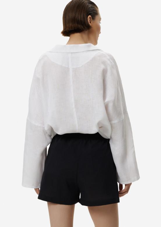 Black cambric shorts