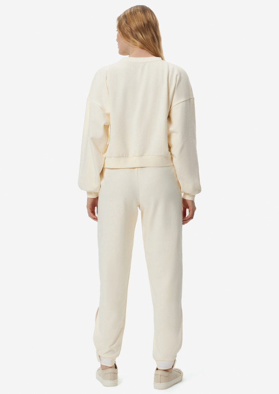 Champagne three-thread suit with velcro
