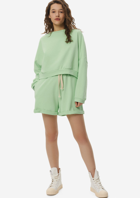 Light green oversize suit with shorts