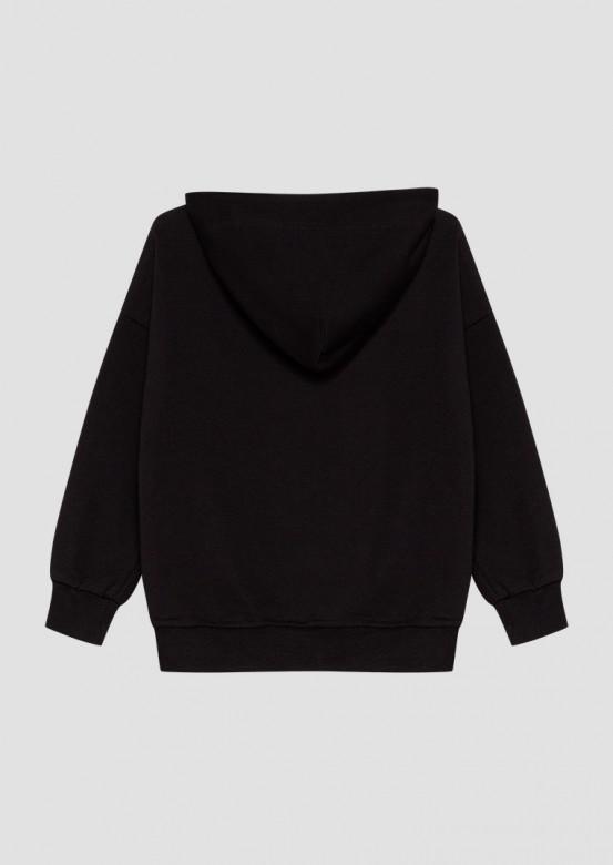 Black kids three-thread hoodie