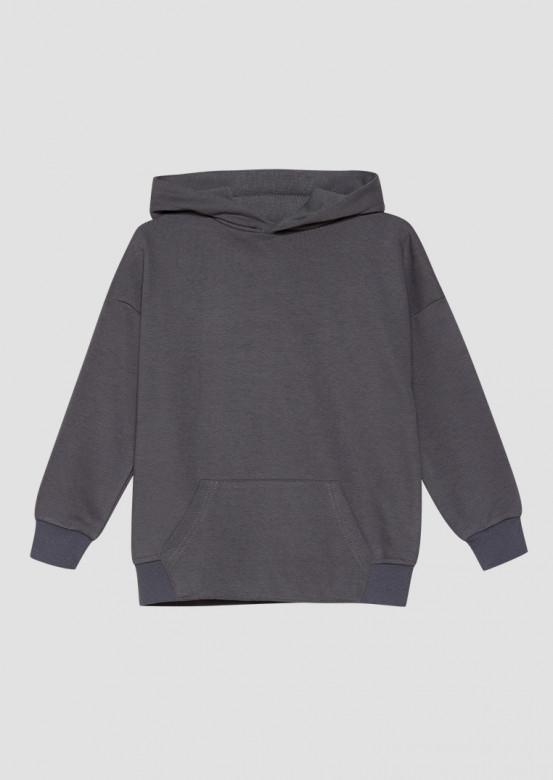Grey kids three-thread hoodie