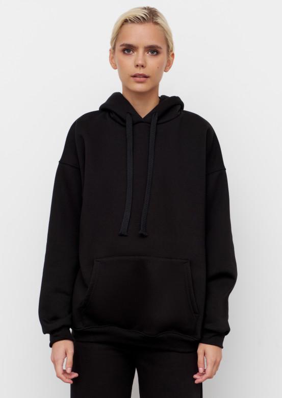 Black colour footer hoodie