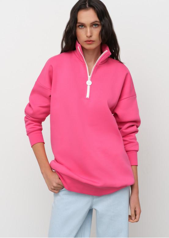 Pink barbie sweatshirt with zipper