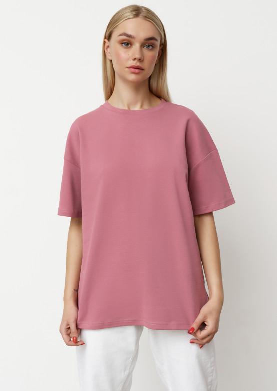 Grey-lilac ribana T-shirt