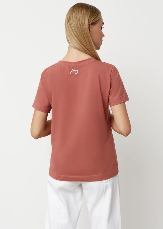 Dark rose colour blank T-shirt