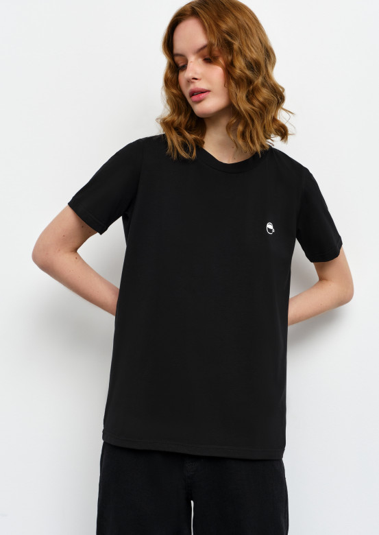 """Black T-shirt with """"cup"""" print"""