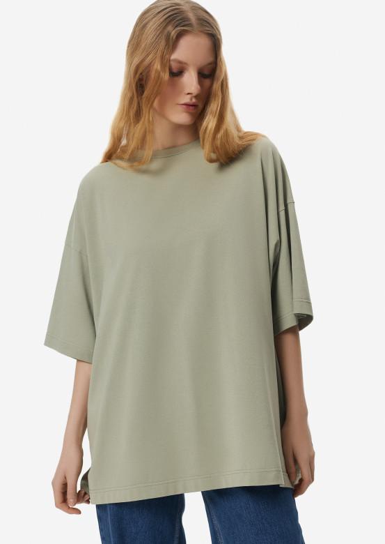 Light khaki mega oversize T-shirt