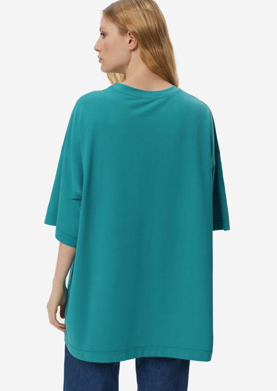 Turquoise mega oversize T-shirt
