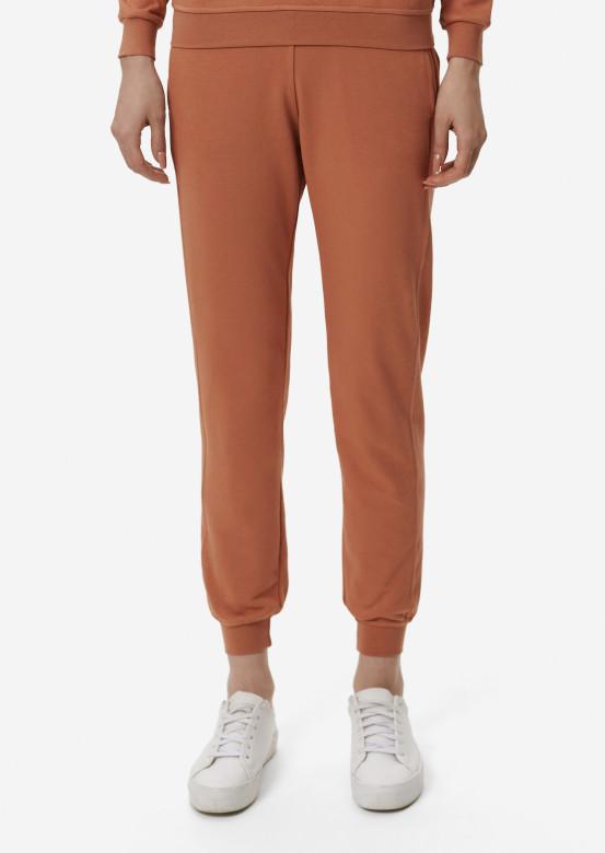 Terracotta women basic three-thread trousers