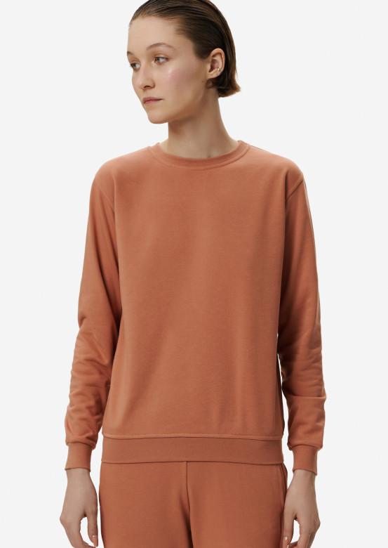 Terracotta women basic three-thread sweatshirt