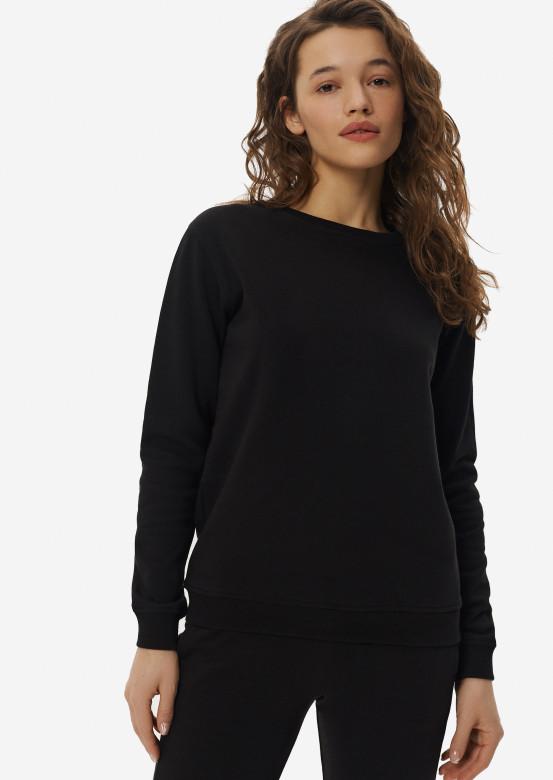 Black women three-thread sweatshirt