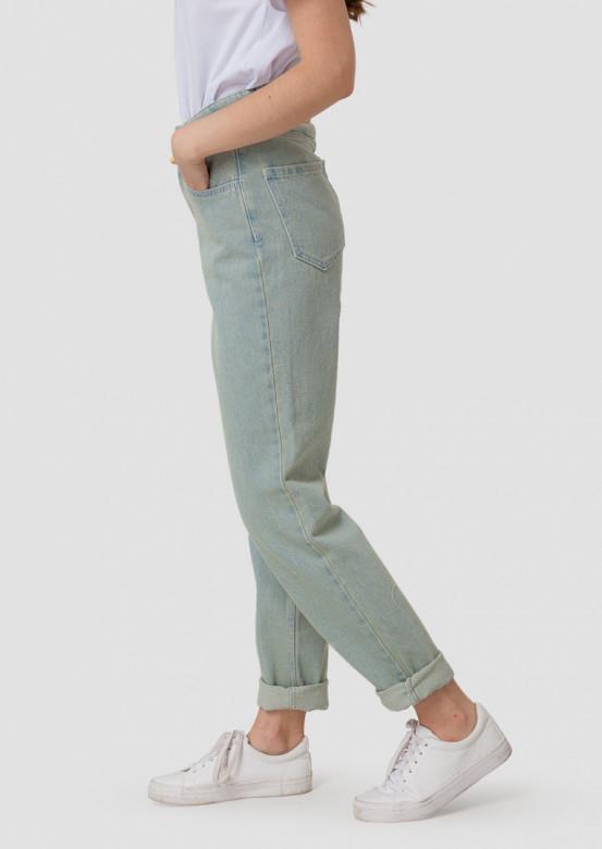 Blue-grey high-waisted jeans