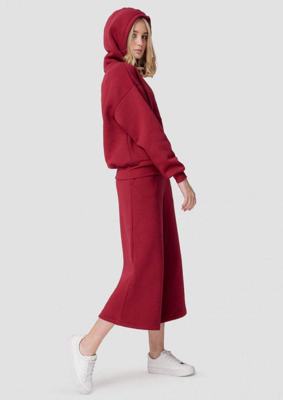 Wine footer culottes suit