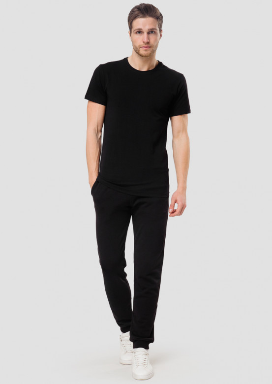 Black men basic T-shirt