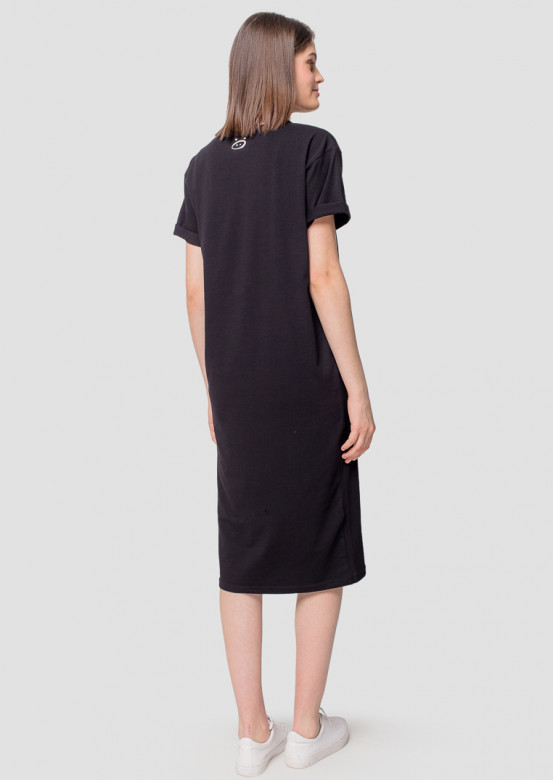 Black T-shirt long dress