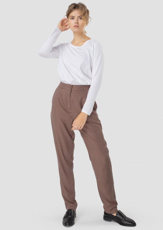 Сhocolate straight trousers