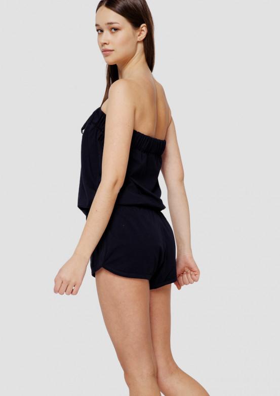 Dark blue short jumpsuit